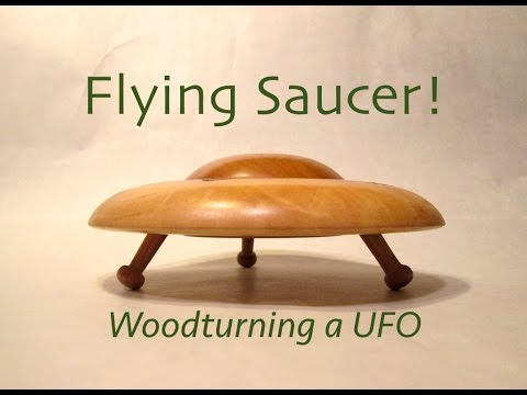 Wooturning Flying Saucer UFO