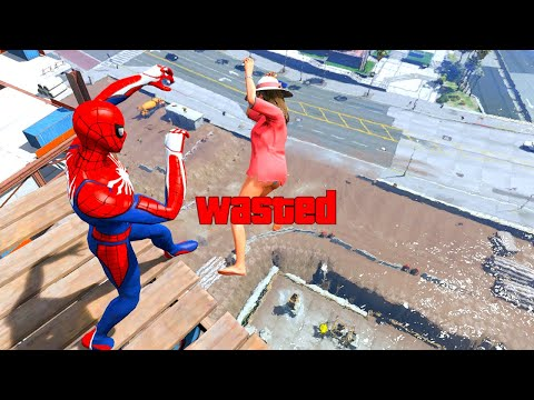 GTA 5 Epic Wasted SpiderMan Compilation Flooded Los Santos ep.193 (Funny Moments)
