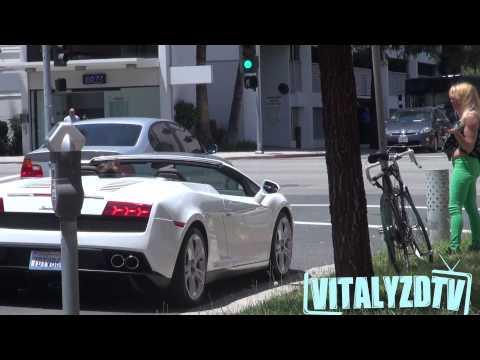 Đại gia dùng siêu xe Lamborghini Gallardo cưa gái