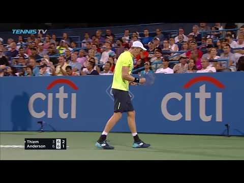 Anderson ousts Thiem; Nishikori edges del Potro | Citi Open Washington 2017 Highlights Day 4