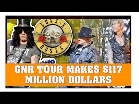 Guns N' Roses News  GNR Makes $117 Million On North America Tour
