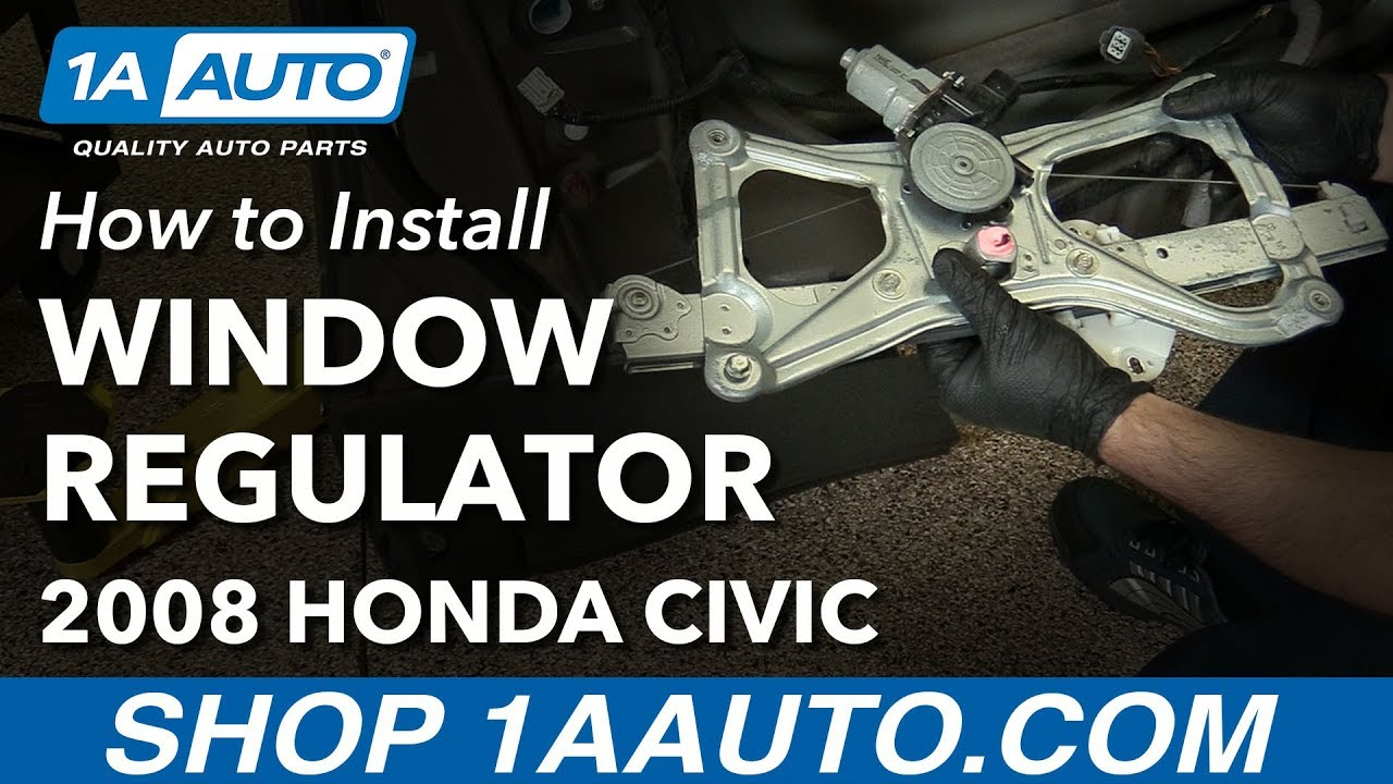 NAGD for 2006-2011 Honda Civic 4 Door Sedan /& Hybrid Passenger//Right Side Front Door Window Replacement Glass