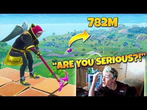 Ninja Reacts to The Best Golf Trickshot of all Time! (Twitch Moments Fortnite Reaction)
