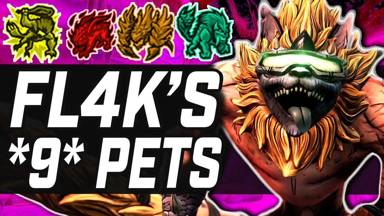 Borderlands 3   FL4K's 9 Pet Variations / Evolutions (New Gameplay)