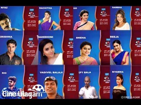 Bigg Boss season 2 contestant list | Vijay TV Bigg Boss 2