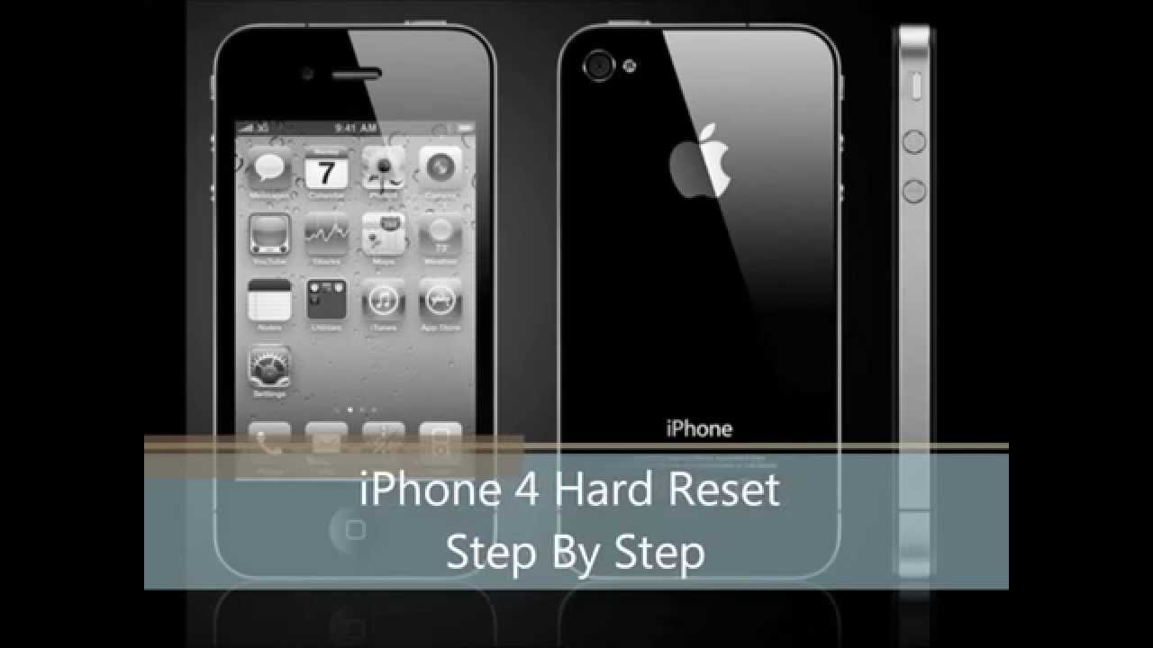 how to hard reset iphone 4 how to reset iphone 4 4s step by step 18868
