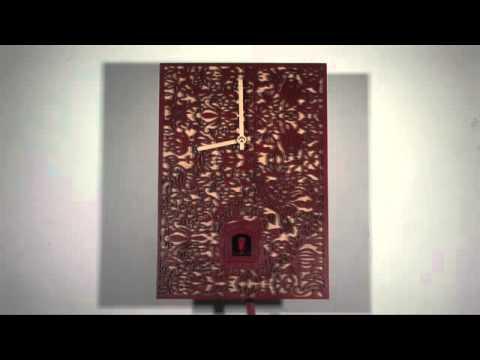Cuckoo Clock Quartz-movement Modern-Art-Style 29cm by Rombach & Haas