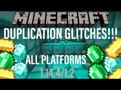 *NEW* Minecraft DUPLICATION GLITCHES for ALL PLATFORMS! Village and Pillage 1.14.4 Xbox PS4 PC JAVA