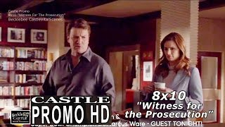 "Castle 8x10  Promo - Castle Season 8 Episode 10 Promo "" Witness For The Prosecution"" (HD)"