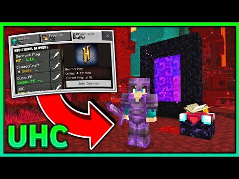 NEW UHC SERVER FOR MCPE 2020 (1 16 ) Minecraft Bedrock Edition