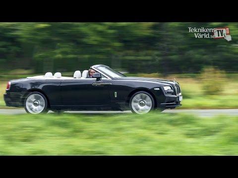 Vi kör Rolls-Royce Dawn i Djursholm