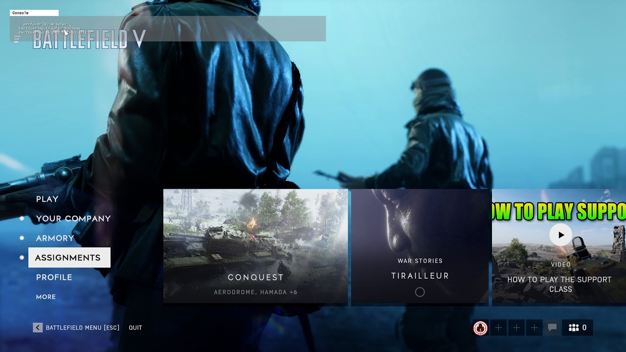 How to Show The FPS Counter in Battlefield V