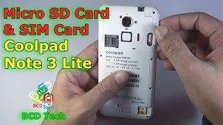 How to install SIM and SD card in Coolpad Note 3 Lite