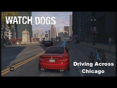 Watch Dogs Map Run Driving Around Chicago Free Roam Gameplay