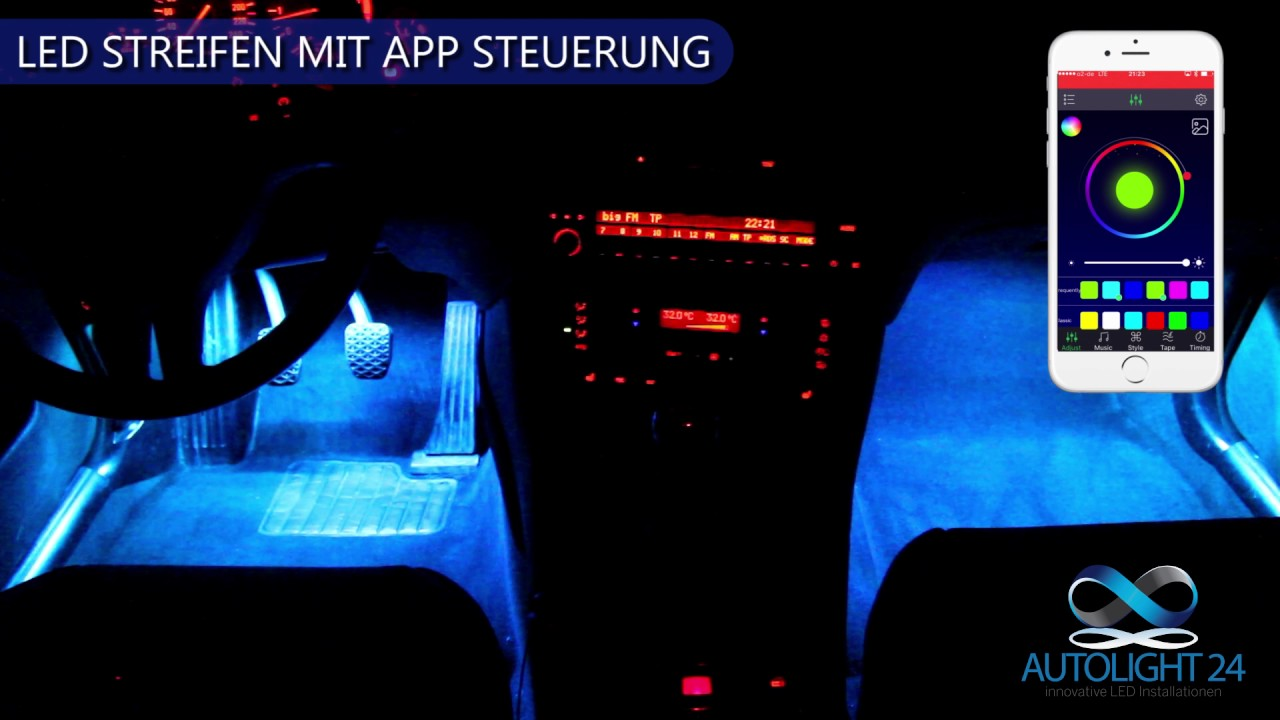led streifen mit app steuerung youtube. Black Bedroom Furniture Sets. Home Design Ideas