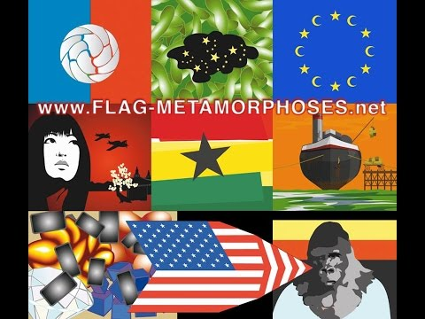 Flag Metamorphoses - Series of 40 Flash Animations by 30 international Artists