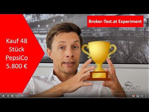 5.800 € in Pepsi Aktien investiert 💶 Das Experiment Teil 6 - Broker-Test.at