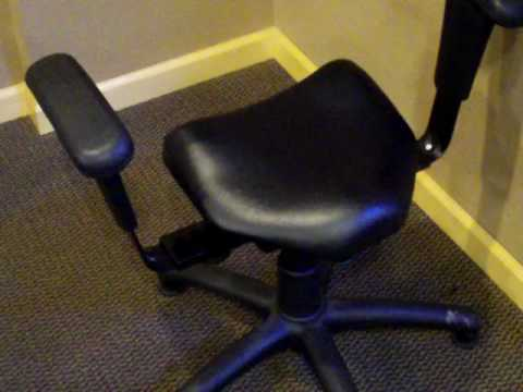 Wobble Chair Chiropractic Reupholster A With Leather Fort Collins Chiropractor And His Chairs Mov Youtube