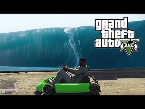 GTA 5 TSUNAMI ET VEHICULES DROLES ! (Kart, chaise roulante, Yacht volant etc)
