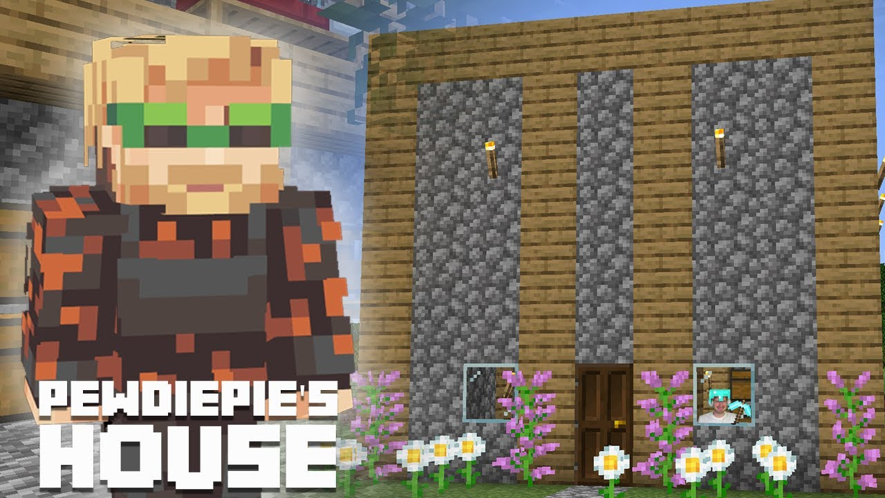 How To Make Pewdiepies House In Minecraft