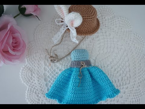 How to crochet doll clothes / doll outfit