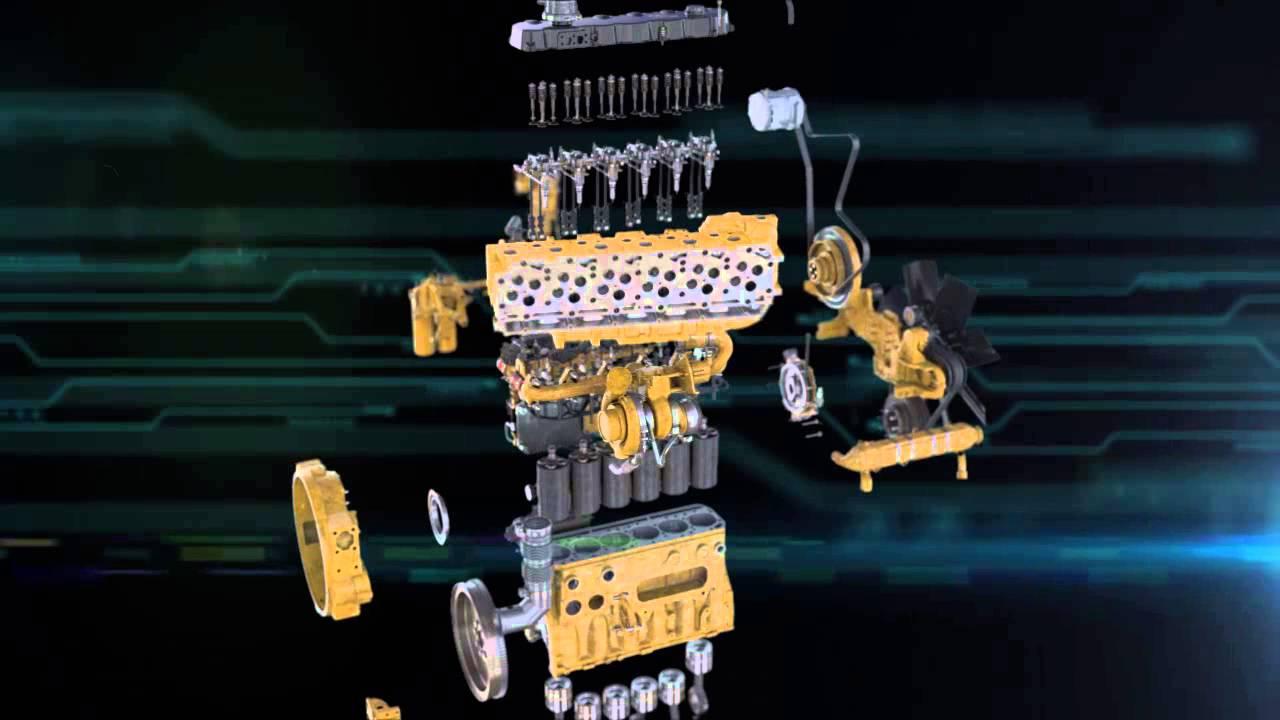 Cat® Reman Engine Salvage Animation