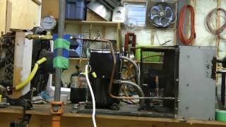 Hampson-Linde air liquefier Part 6 - Compressor setup