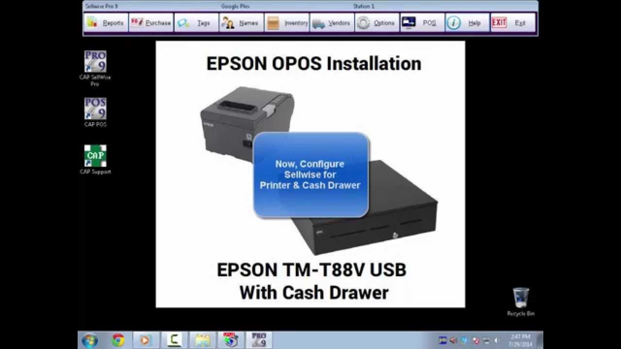 epson printer and cash drawer installation youtube. Black Bedroom Furniture Sets. Home Design Ideas