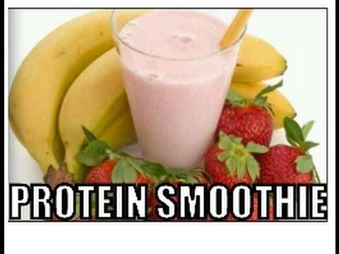 Easy Whey Protein Strawberry Banana Smoothie