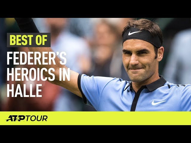 Incredible Federer Shots In Halle | THE BEST OF | ATP