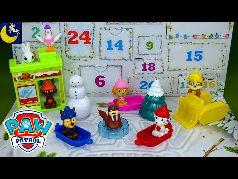 Paw Patrol Surprise Toys the Christmas Advent Calendar Toy Reveal 2018 Chase Skye Video Count Down!