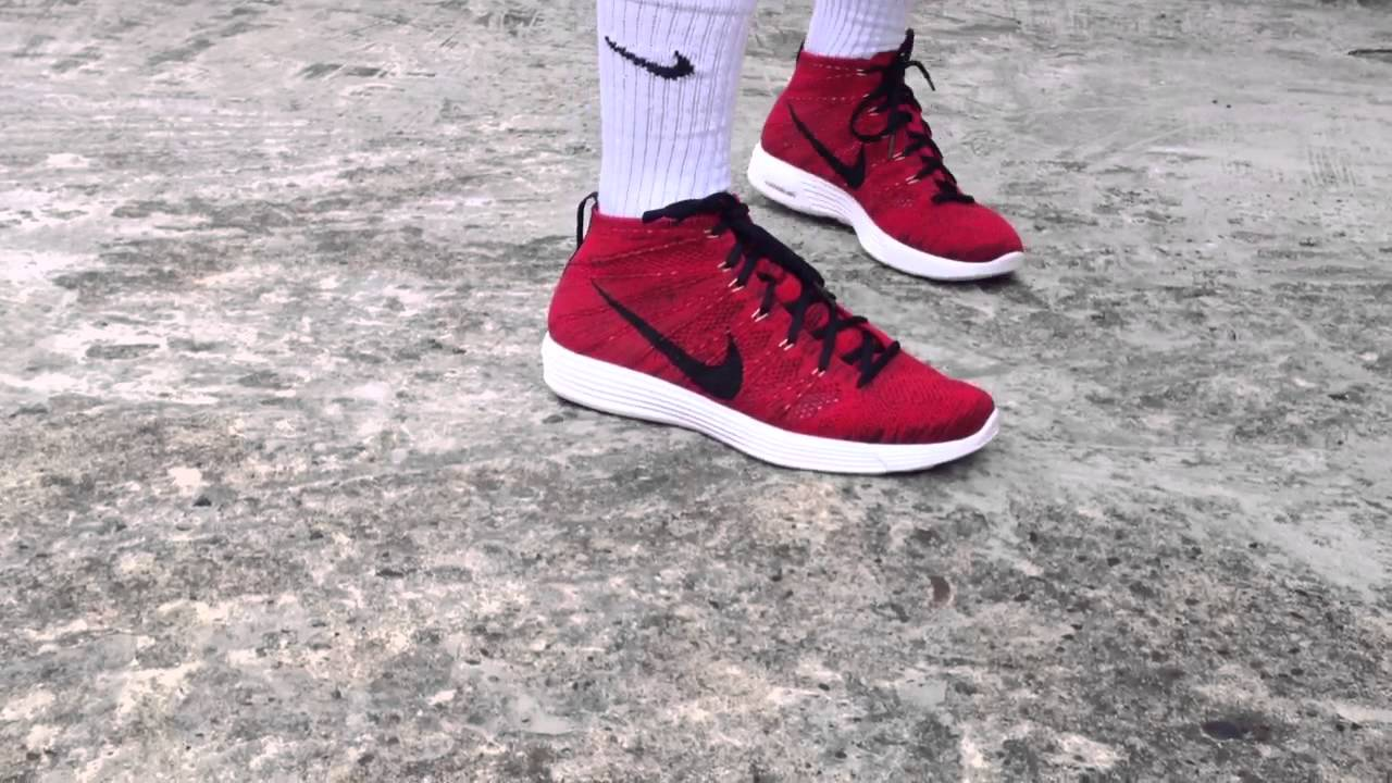 f17a859836914 Nike Flyknit Chukka University Red - On Feet - YouTube