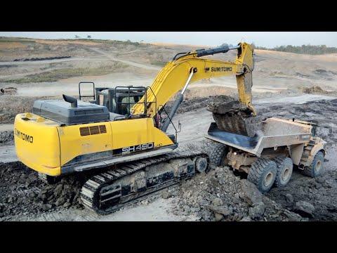 SH490LHD-6 Sumitomo Excavator At Coal Mining