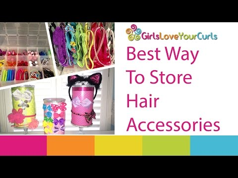 ♥ 72 ♥ Best Ways to Store Hair Accessories - Girls love your curls
