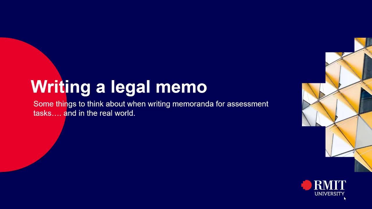 Writing a Legal Memo