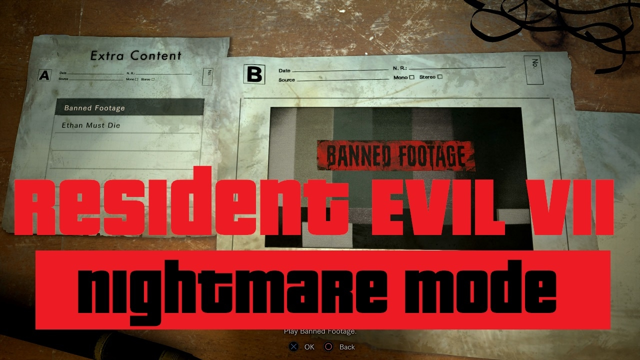 resident evil 7 ethan must die unlockables
