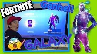 I WON SUPER SKIN GALAXY AT FORTNITE GALERA!!! SHE IS D +!! 😱😃🎉💫✨