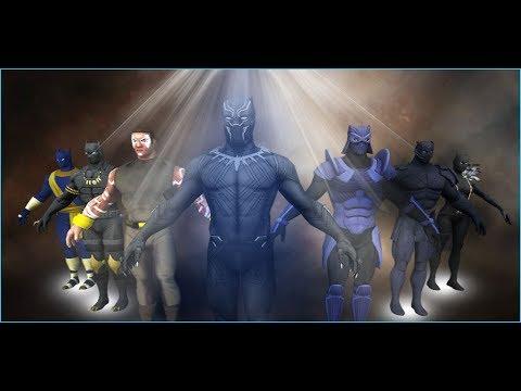 Panther Superhero Street Fighting Hero City Battle