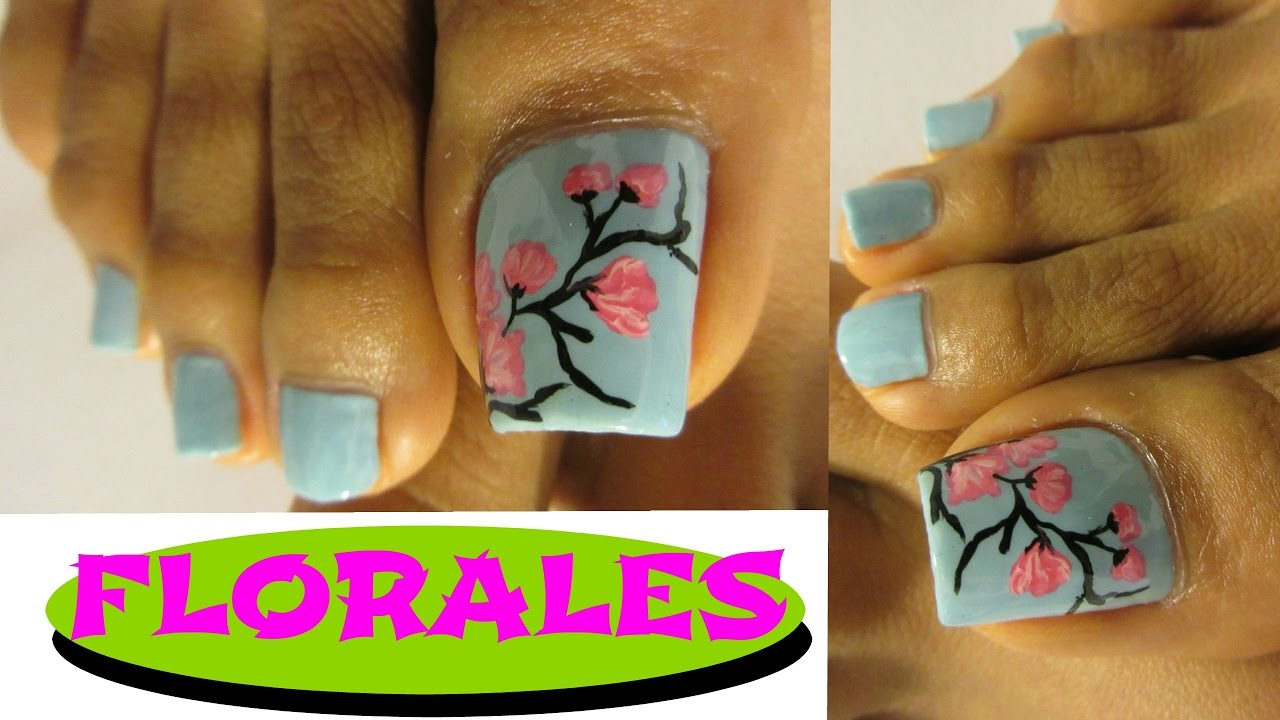 Flores Rapidas Unas Decoradas De Pies Pretty Floral Design Toe Nail