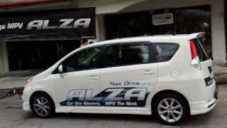 The New Perodua Alza With Full Body Kit Test Drive