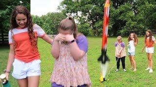 Surprise Toy Rocket Launch!!!  (Sarah Grace &amp Haschak Sisters)