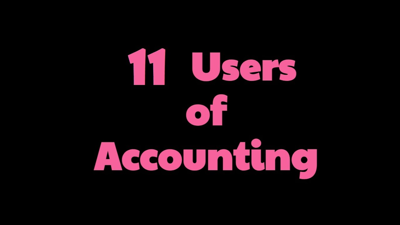 Users of Accounting Information | Internal | External | Examples