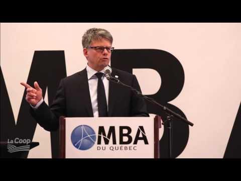Conférence de Gaétan Desroches devant l'Association des MBA du Québec