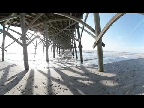 Sailing in Charleston and Under The Folly Beach Pier Gear 360 - YouTube