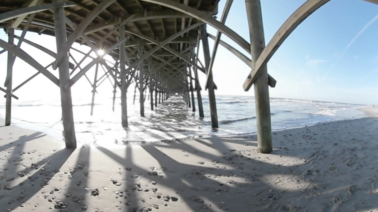 Sailing in Charleston and Under The Folly Beach Pier Gear 360