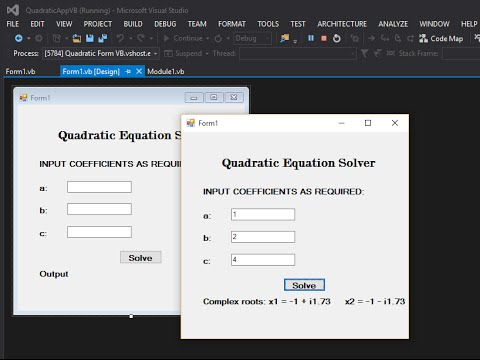 Quadratic roots calculation in labview the engineering projects.