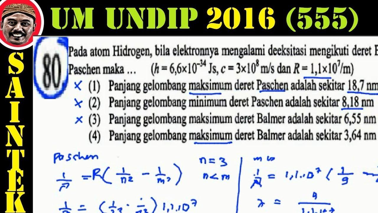 UM UNDIP 2016 ,saintek 555 , Fisika , Pembahasan No 80