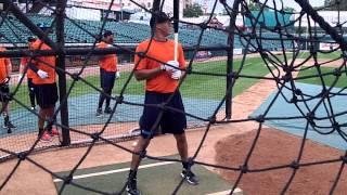 Carlos Correa Batting Practice - May 2015