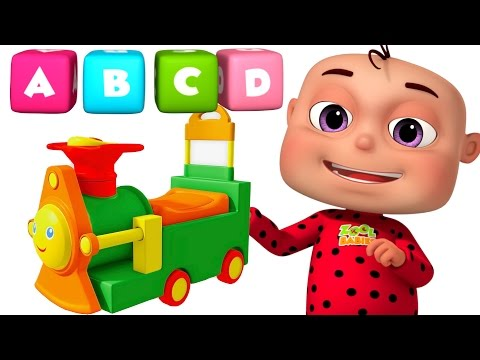 Thumbnail: ABC Train Song For kids | Alphabet Train With Five Little Babies | Five Little babies Collection