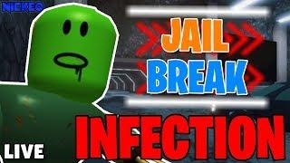🔴 INSANE JAILBREAK INFECTION PER ROBUX! NUOVO MINIGIOCO! 🔴 di Roblox Jailbreak LIVE
